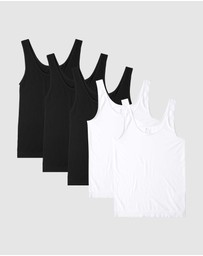 Boody Organic Bamboo Eco Wear - 5 Pack Tank Top