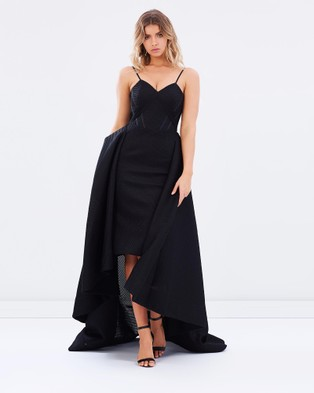 Bariano – Taylor Strapless Ball Gown – Bridesmaid Dresses Black
