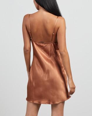 Shona Joy Gala Bias Mini Slip Dress - Dresses (Copper)