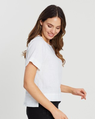 White By FTL - Marcia Tee - Tops (White) Marcia Tee