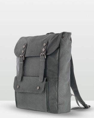 Cobb & Co - Wentworth Soft Leather Backpack - Backpacks (Charcoal) Wentworth Soft Leather Backpack