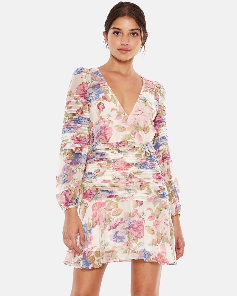 Talulah Epiphany LS Mini Dress Printed Dresses Floral Multi Epiphany LS Mini Dress