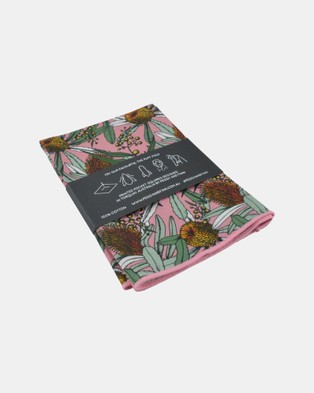 Peggy and Finn Banksia Pocket Square - Pocket Squares (Pink)