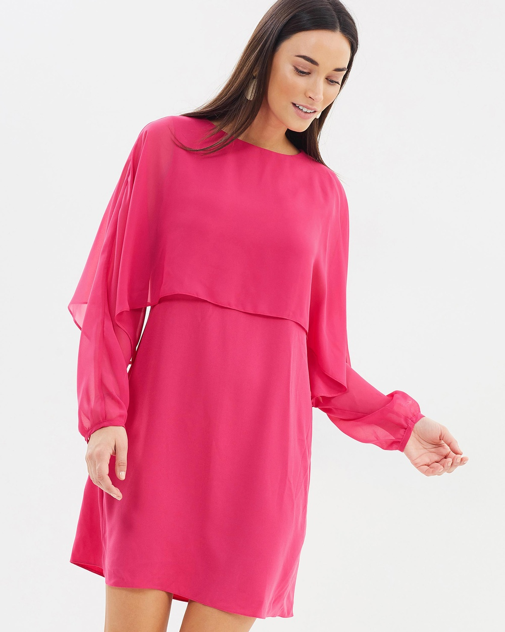 Dorothy Perkins Chiffon Overlay Dress Dresses Pink Chiffon Overlay Dress