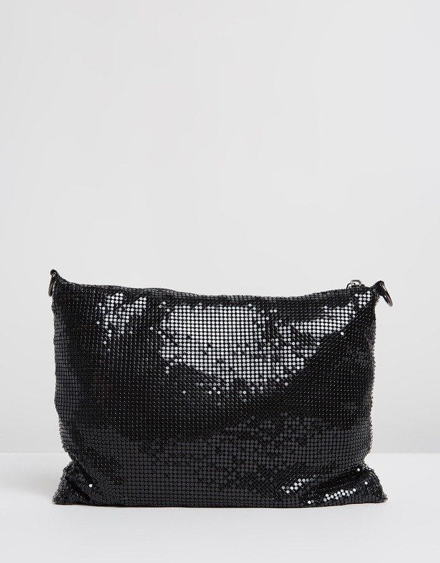 Olga Berg - Rosanna Two Way Crystal Mesh Bag