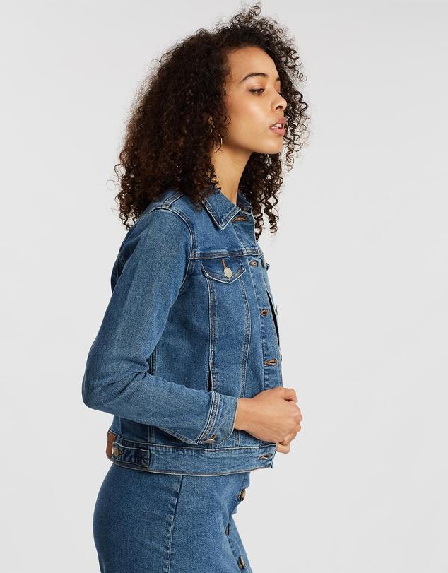 Women Ramie Denim Jacket