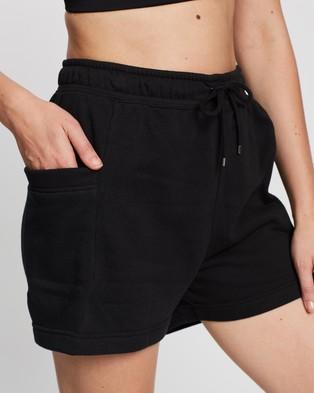 Nike Air Fleece High Rise Shorts - Shorts (Black & White)