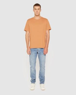 Jag - Organic Split Tee - T-Shirts & Singlets (Burnt Orange) Organic Split Tee