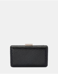 Olga Berg - Juliana Woven Patent Clutch