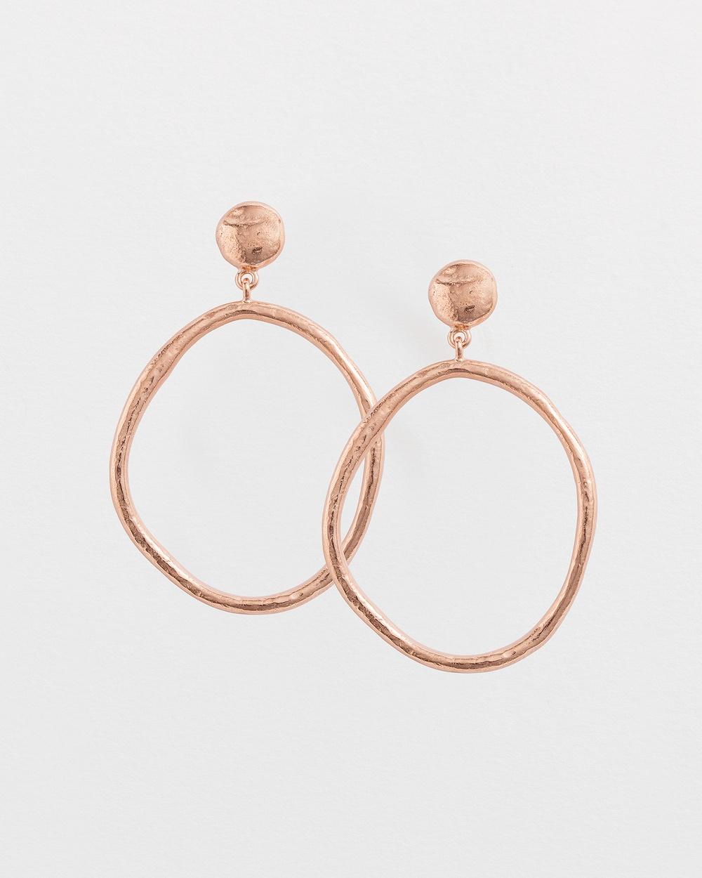Kirstin Ash Golden Light Earrings Jewellery Rose Gold