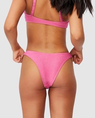 Cotton On Body Refined High Side Brazilian Bikini Bottoms - Bikini Bottoms (Pink Shimmer)