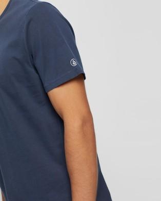 Volcom Wash Solid Short Sleeve Tee - T-Shirts & Singlets (Blue)