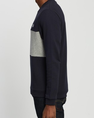 Fred Perry Authentic Colour Block Sweat - Sweats (Navy)