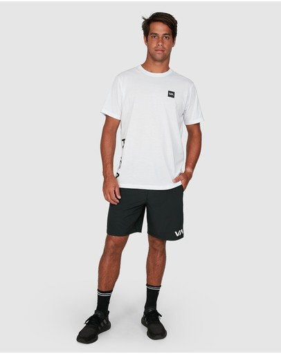 Rvca 2 X Short Sleeve Tee White