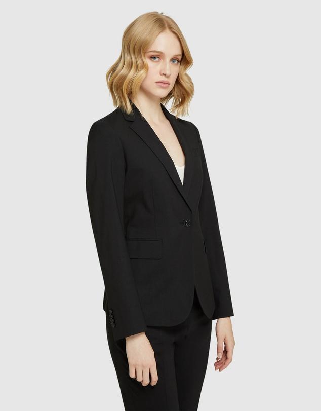 Women Alexa Blk Wool Stretch Suit Jacket