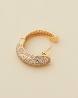 Jackie Mack Festive Hoops - Jewellery (18K Yellow Gold)