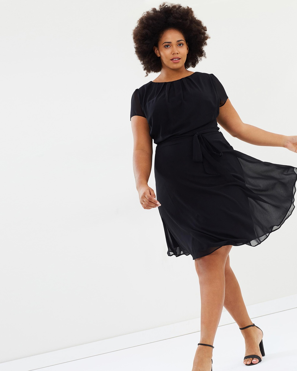DP Curve Pleat Dress Dresses Black Pleat Dress