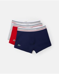 Lacoste - 3-Pack Stretch Cotton Trunks