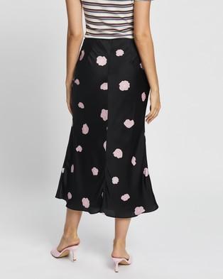 Glamorous Slip Skirt - Skirts (Black Floral Satin)