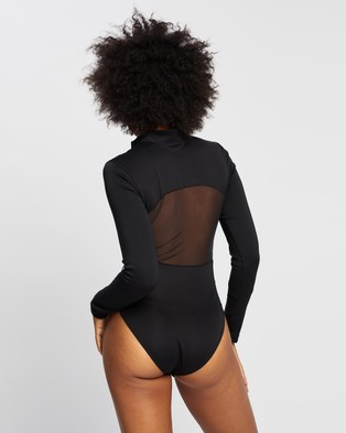 adidas Performance Mesh Leotard - Dresses (Black & White)