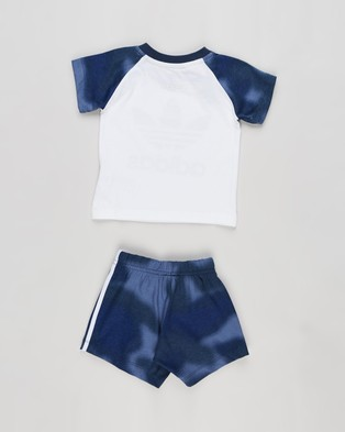 adidas Originals Short Tee Set Babies Kids Shorts White & Blue Babies-Kids