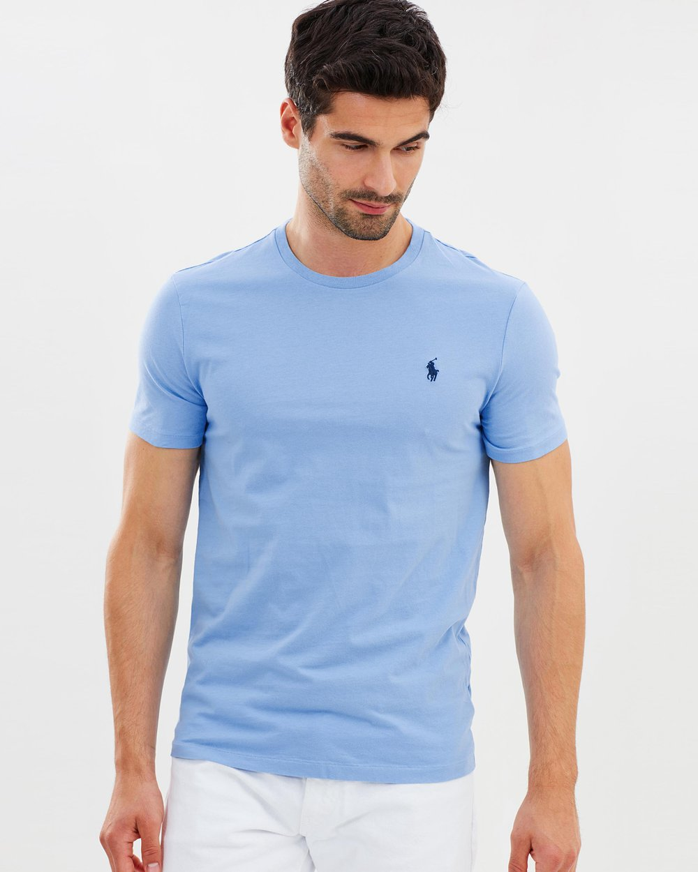 aed8c464 Custom Slim Fit Cotton T-Shirt by Polo Ralph Lauren Online | THE ICONIC |  Australia