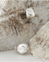 Released From Love - Oversize Cast Pearl Studs