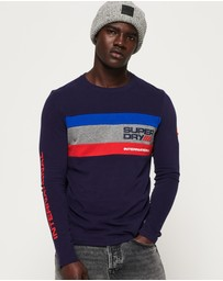 Superdry - Trophy Tri Colour Long Sleeve T-Shirt