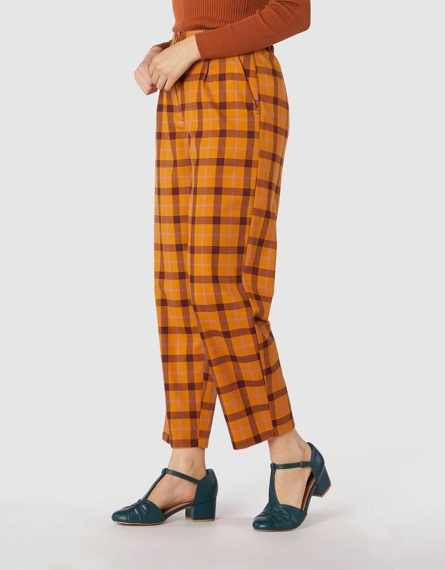 Women Claudia Check Pants