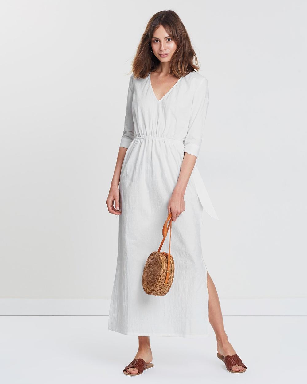 Wilde Willow White Cotton Enchant Maxi Dress