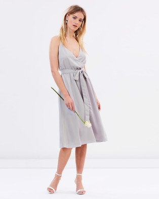 Atmos & Here – Arabella Cross Back Dress – Bridesmaid Dresses (Earl Grey)