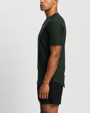 Doyoueven - Mark Drop Tee V2 Short Sleeve T-Shirts (Forest Green)