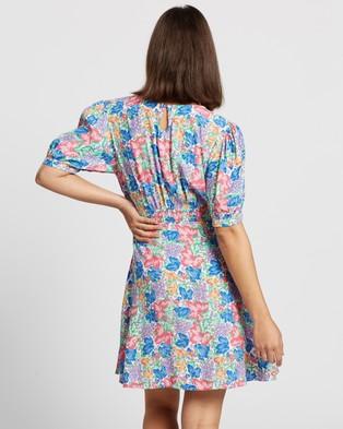 Faithfull The Brand Sidonie Mini Dress - Printed Dresses (Jemima Floral Print)