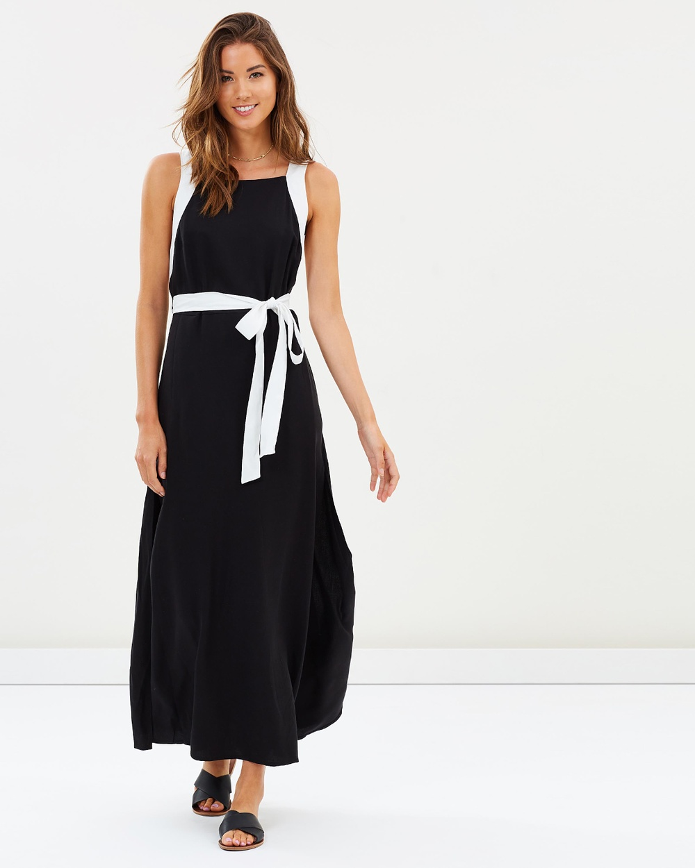 JETS Maxi Wrap Dress Dresses Black Maxi Wrap Dress