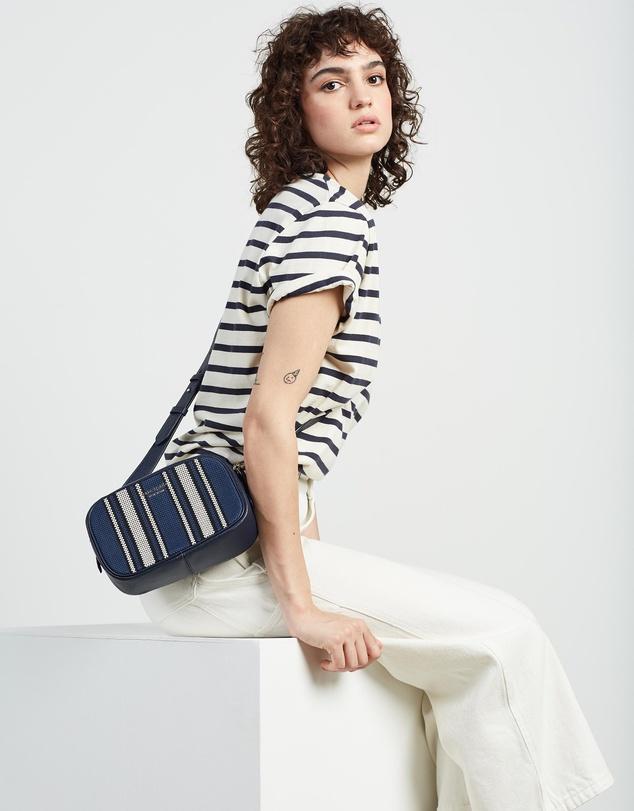 Women Astrid Canvas Stripe Medium Camera Bag