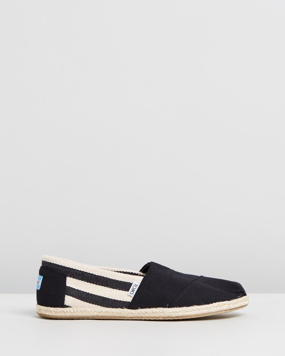 TOMS University Classics Men's Casual Shoes Black Stripe Australia