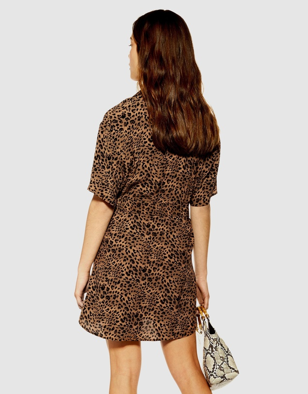 TOPSHOP Petite - Animal Shirt Dress