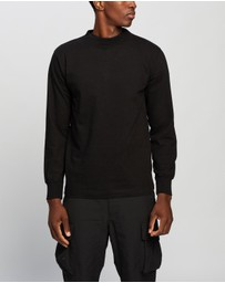 snow peak - Heavy Cotton Garment Dyed LS Mock-Neck