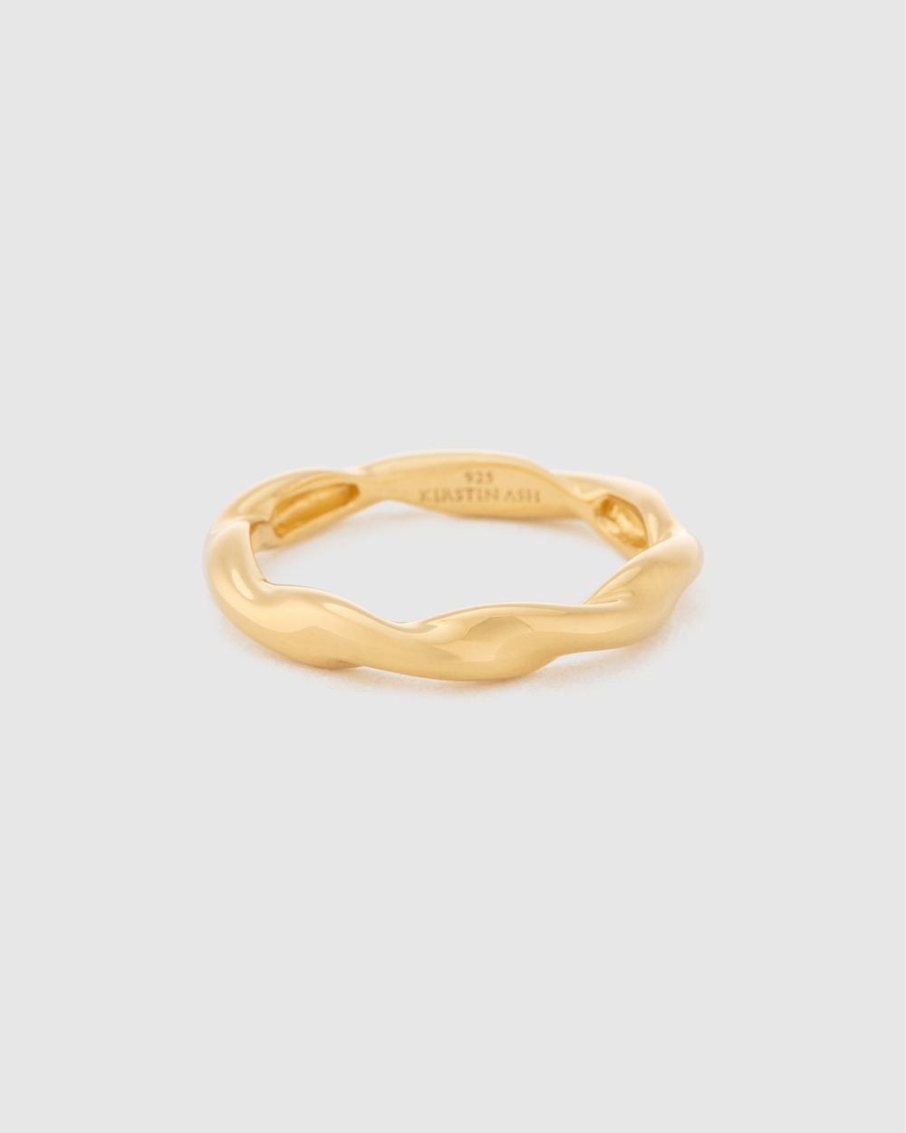 Kirstin Ash Wave Ring Jewellery Gold