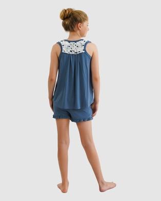 Love Haidee Sleep Shorts & Sleep Tank Set - Two-piece sets (Blue)