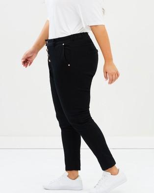 17 Sundays Search & Destroy Drop Crotch Jeans - High-Waisted (Black)