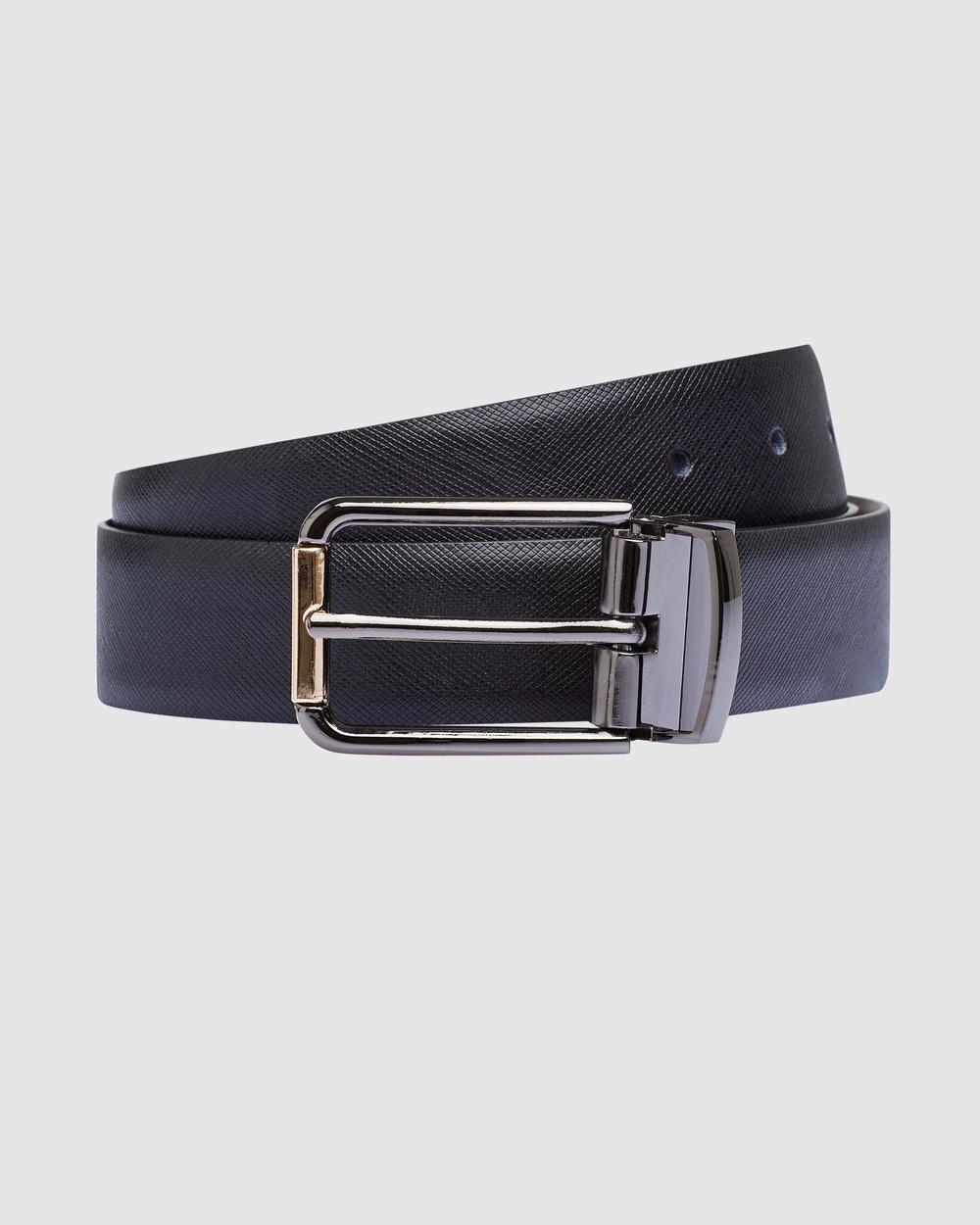 yd. Walters Reversible Belt Belts BLACK