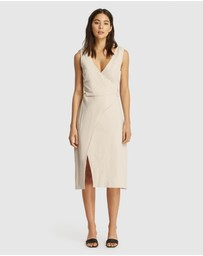 FRIEND of AUDREY - Huntington Linen Wrap Dress