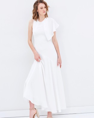 Bianca Spender – Crepe Phoenix Gown White