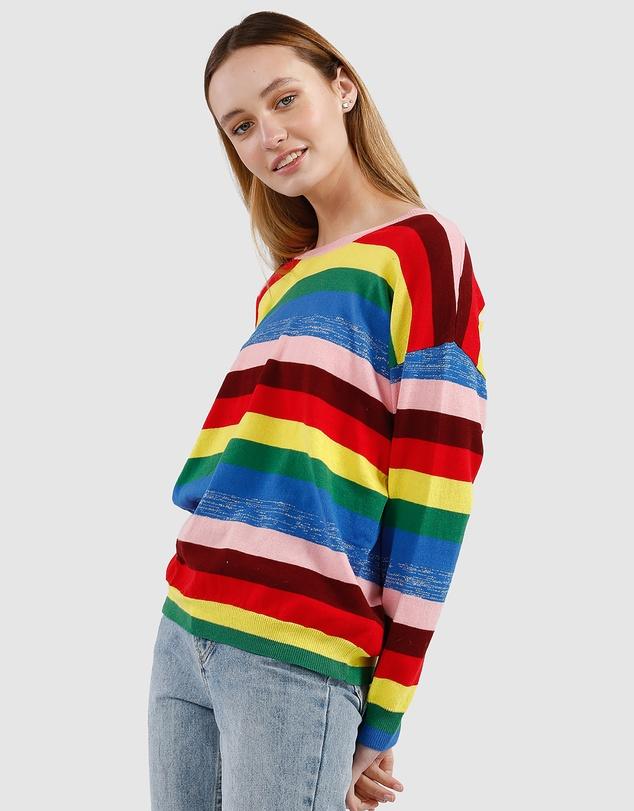 Women Watching Rainbows Knit