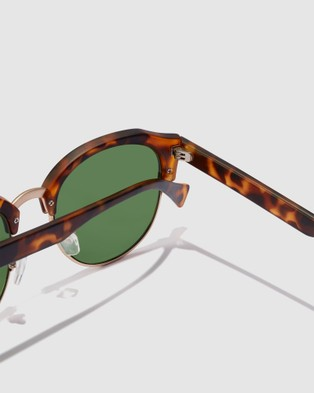 Hawkers Co Green CLASSIC ROUNDED - Sunglasses (Brown)