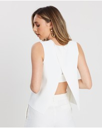 FRIEND of AUDREY - Minimalist Cross Back Top
