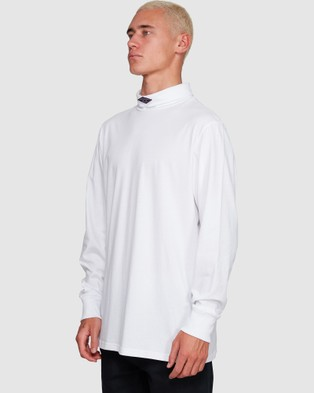 Billabong - Fold Em Long Sleeve Tee - Long Sleeve T-Shirts (WHITE) Fold Em Long Sleeve Tee