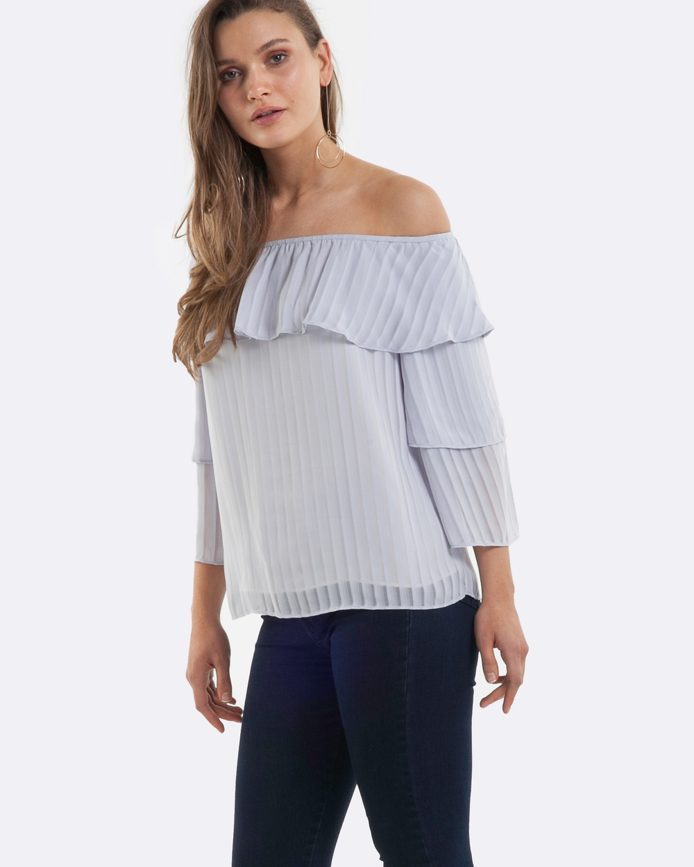Amelius Adorned Top Tops Silver Adorned Top