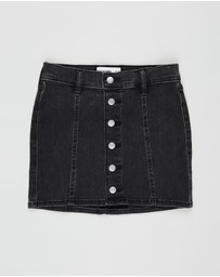 Abercrombie & Fitch - Button-Through Denim Skirt - Teens